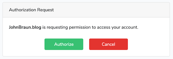Authorization request (Laravel Passport)